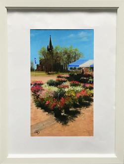 Flower Market in Loviisa, Rafael Guerra Painting