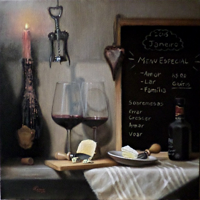 Thaysa's Celebration, Rafael Guerra Painting Pintura
