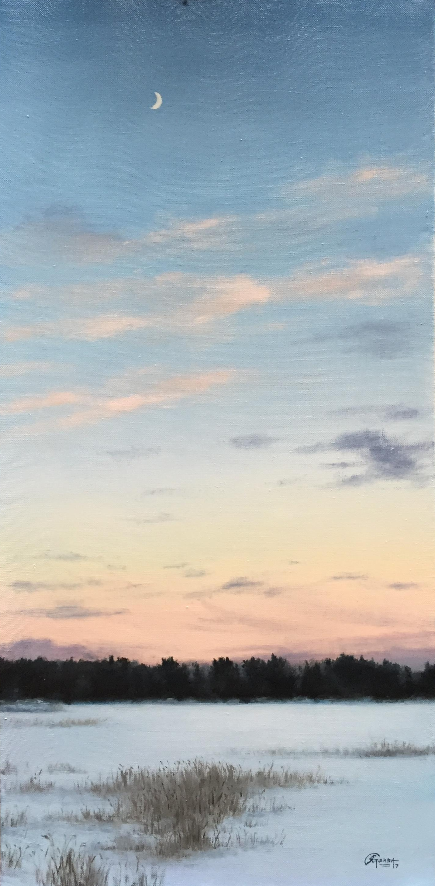 Finnish Sky in Winter, Rafael Guerra Painting
