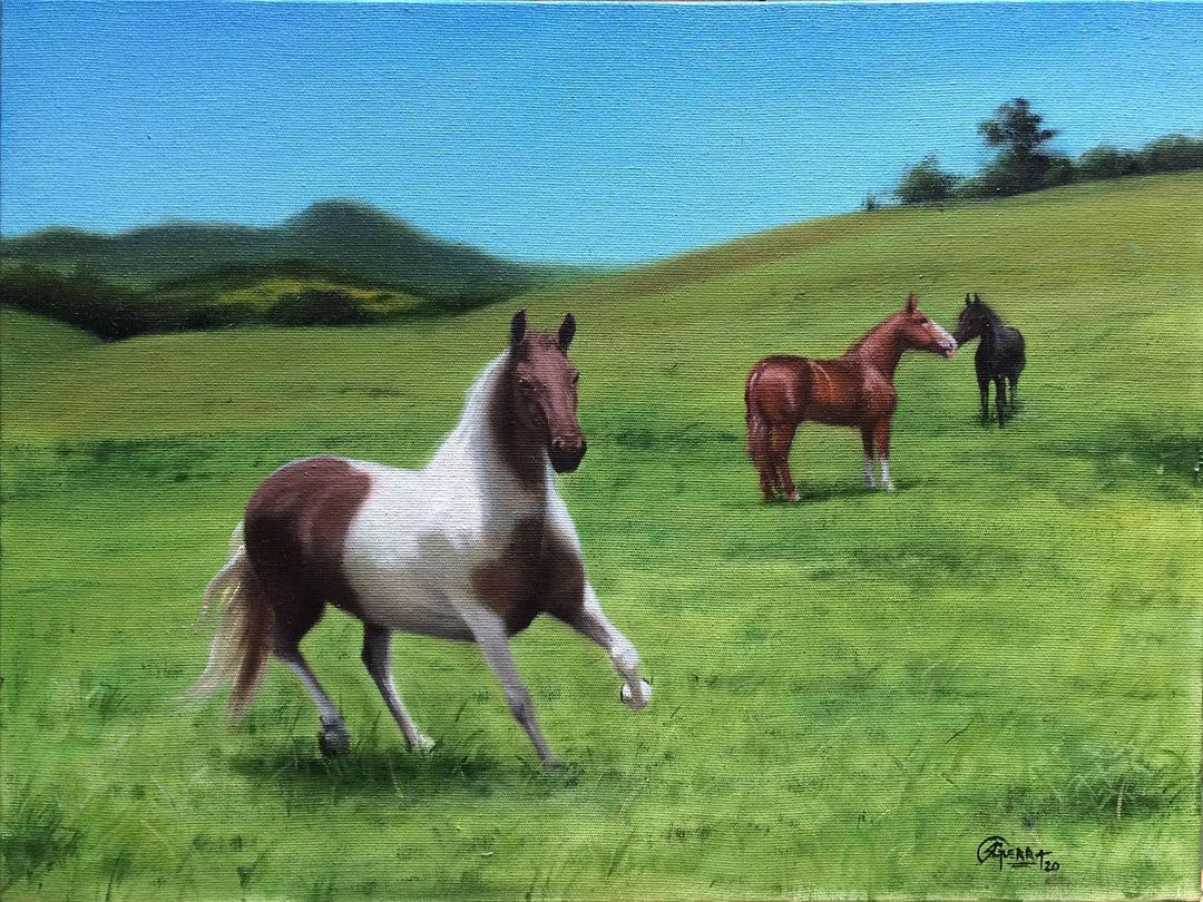Paisagem Brasileira com Cavalos, Interior, Rafael Guerra Pintura