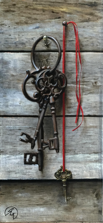 Old Keys, Rafael Guerra painting pintura