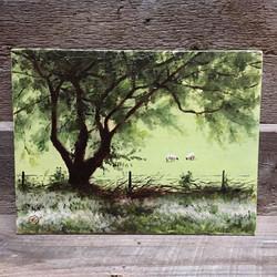 England, Kingswood with Sheep, Rafael Guerra Painting Pintura