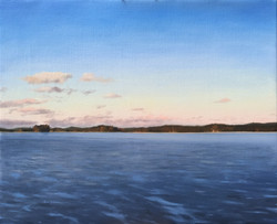 A Frozen Lake in Finland, Rafael Guerra Painting