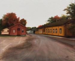 Loviisan Vanhat Talot, Rafael Guerra Painting Pintura