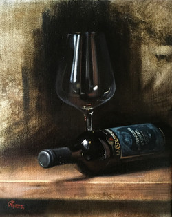 Wine Glass Study - Montepulciano, Rafael Guerra Painting Pintura