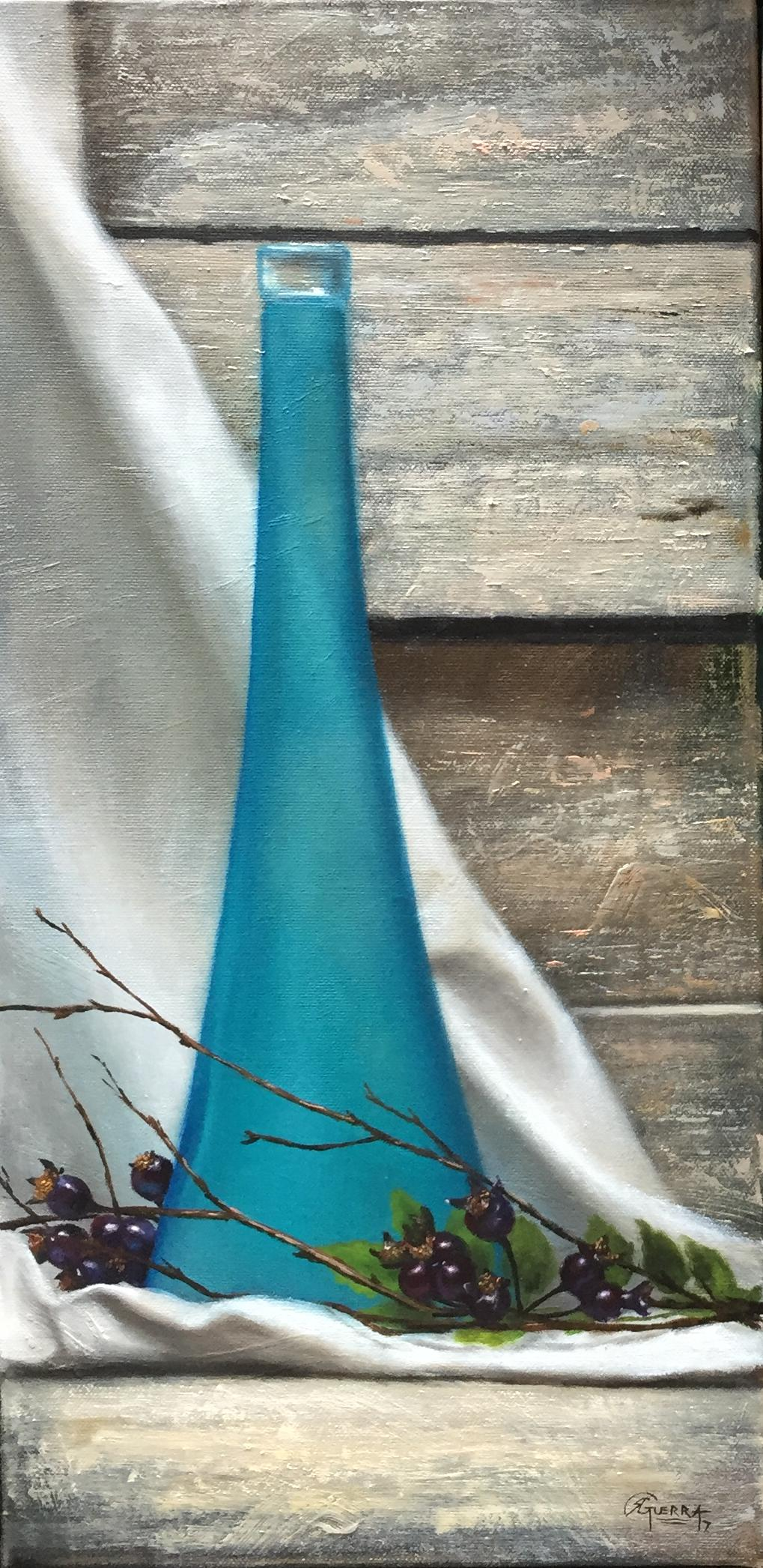Blue Vase, Rafael Guerra Painting