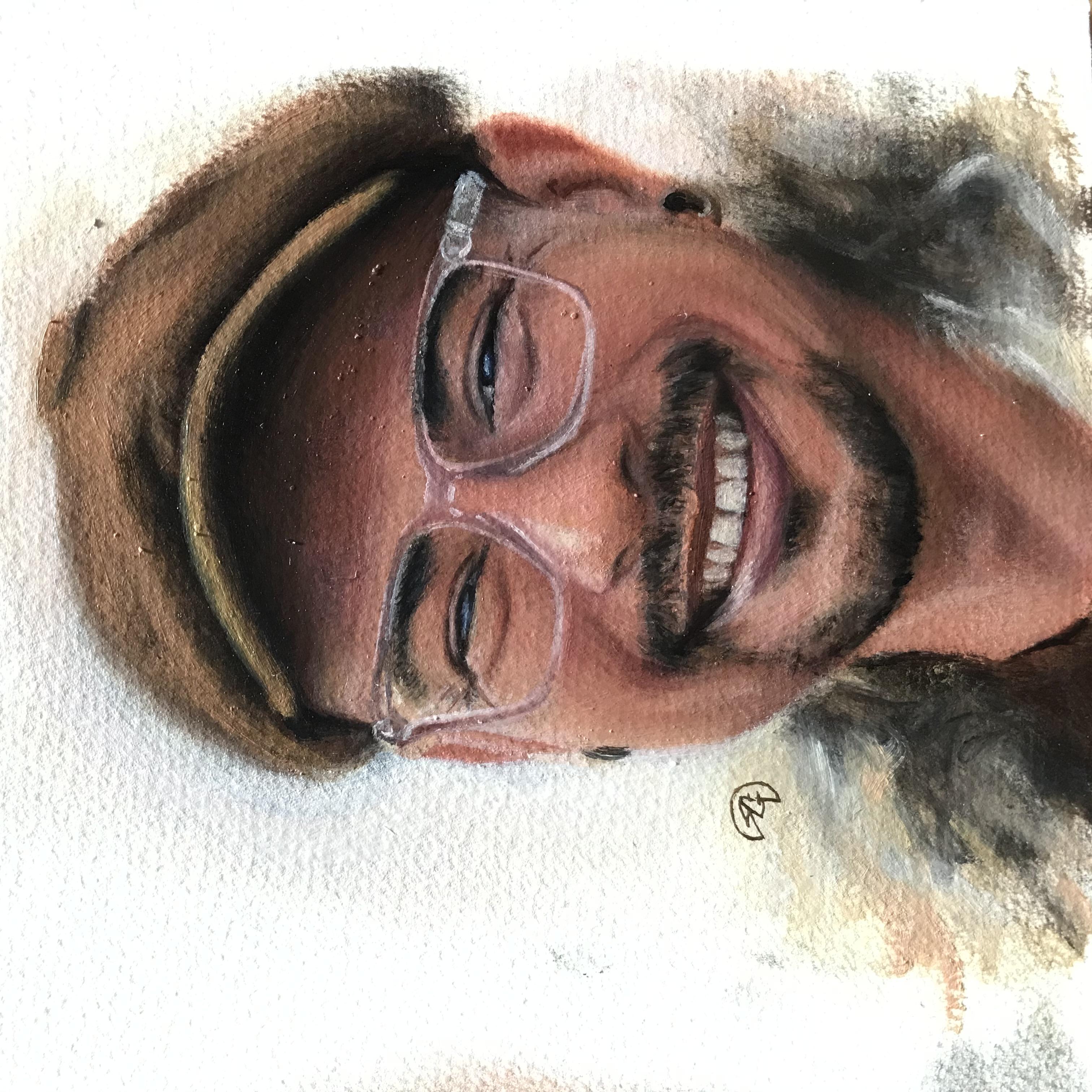 Gustavo 1, Rafael Guerra Painting Pintura