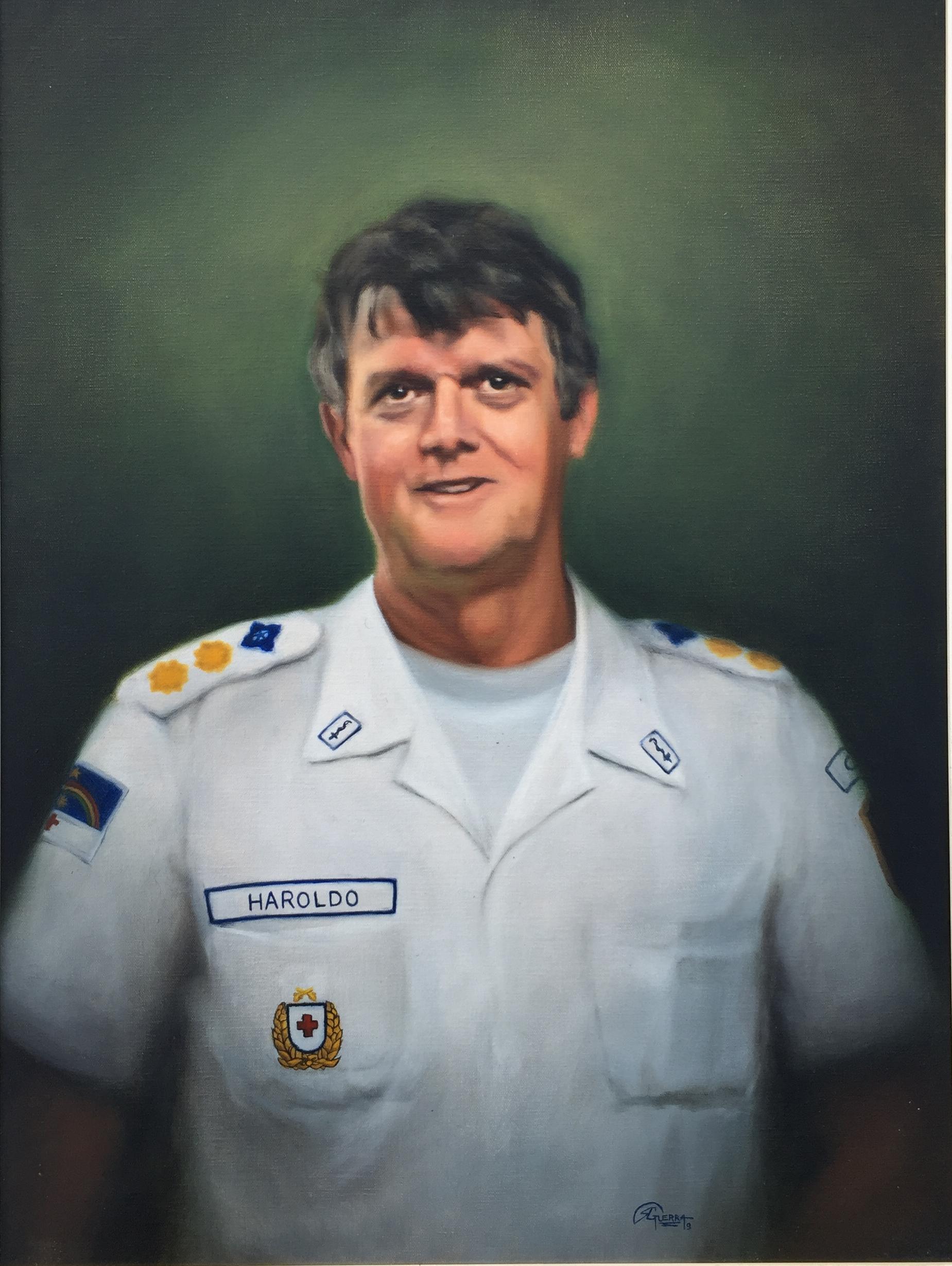 Retrato de Haroldo Pina, Rafael Guerra Painting Pintura