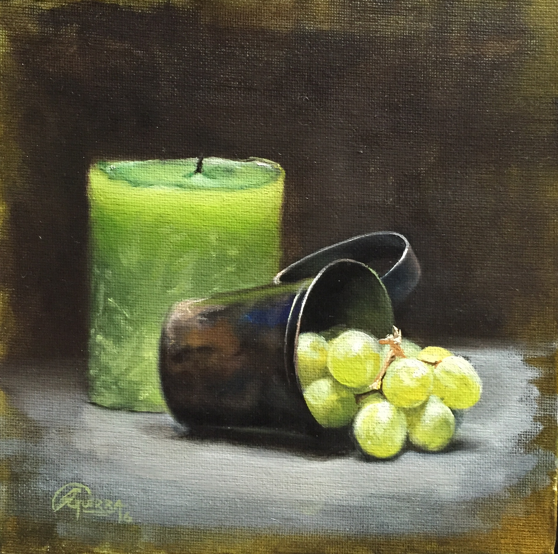 Green Candle and Green Grapes