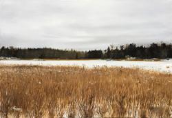 A Finnish Lake in November, Rafael Guerra Painting