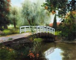 Loviisa Park Bridge, Rafael Guerra Painting Pintura