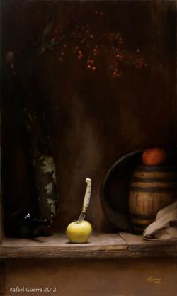 The Waiting, Rafael Guerra Painting Pintura