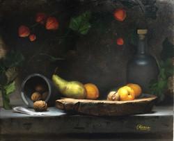 Green Pear & Yellow Plums, Rafael Guerra