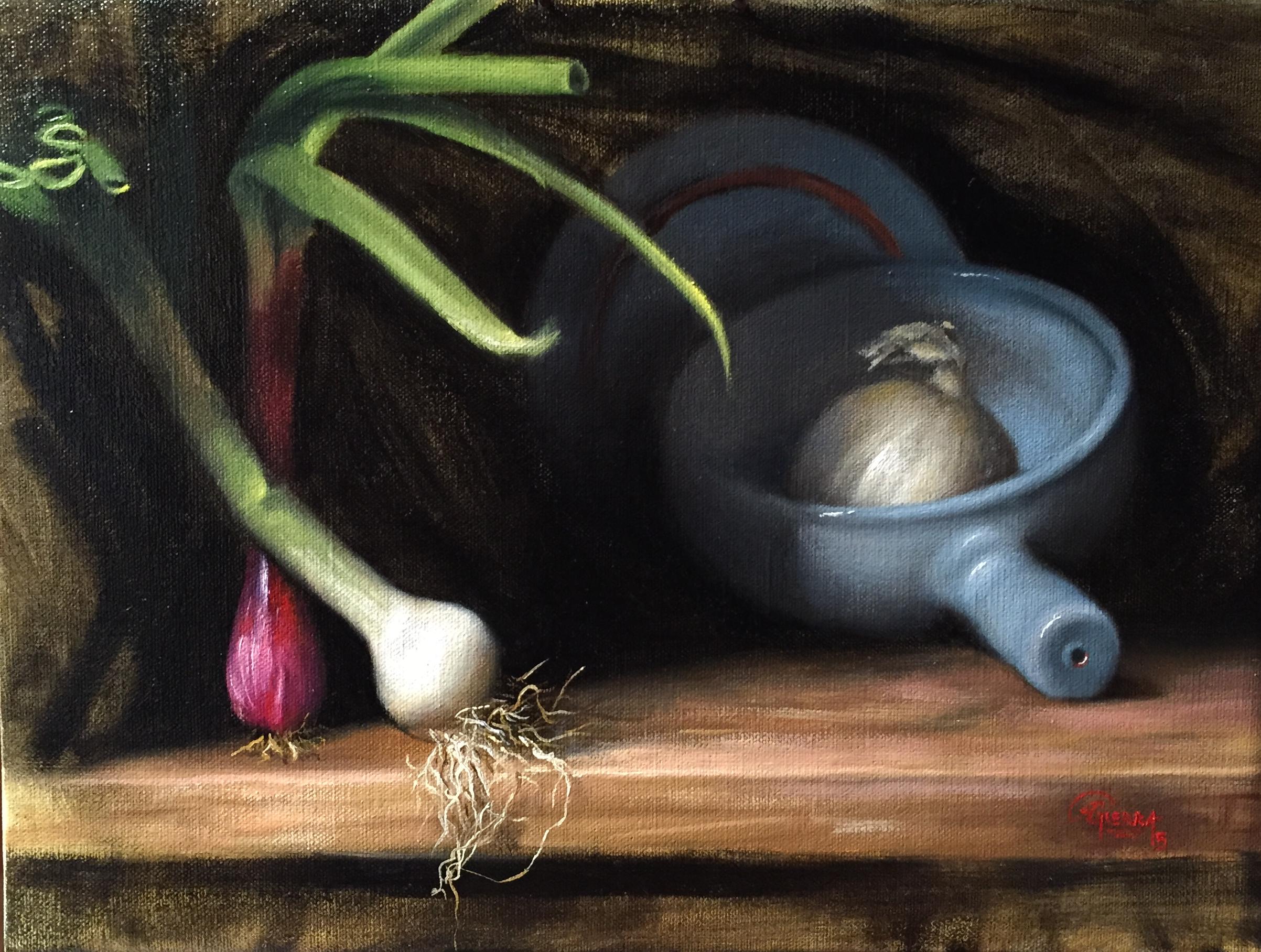 White Onion, Rafael Guerra Painting Pintura