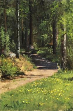 Earth Road in Spring, Rafael Guerra Painting Pintura