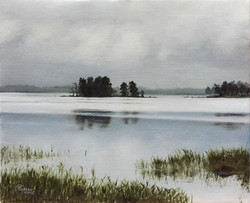 Little Island on a Lake in Finland, Rafael Guerra Painting