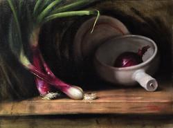 Purple Onion, Rafael Guerra Painting Pintura