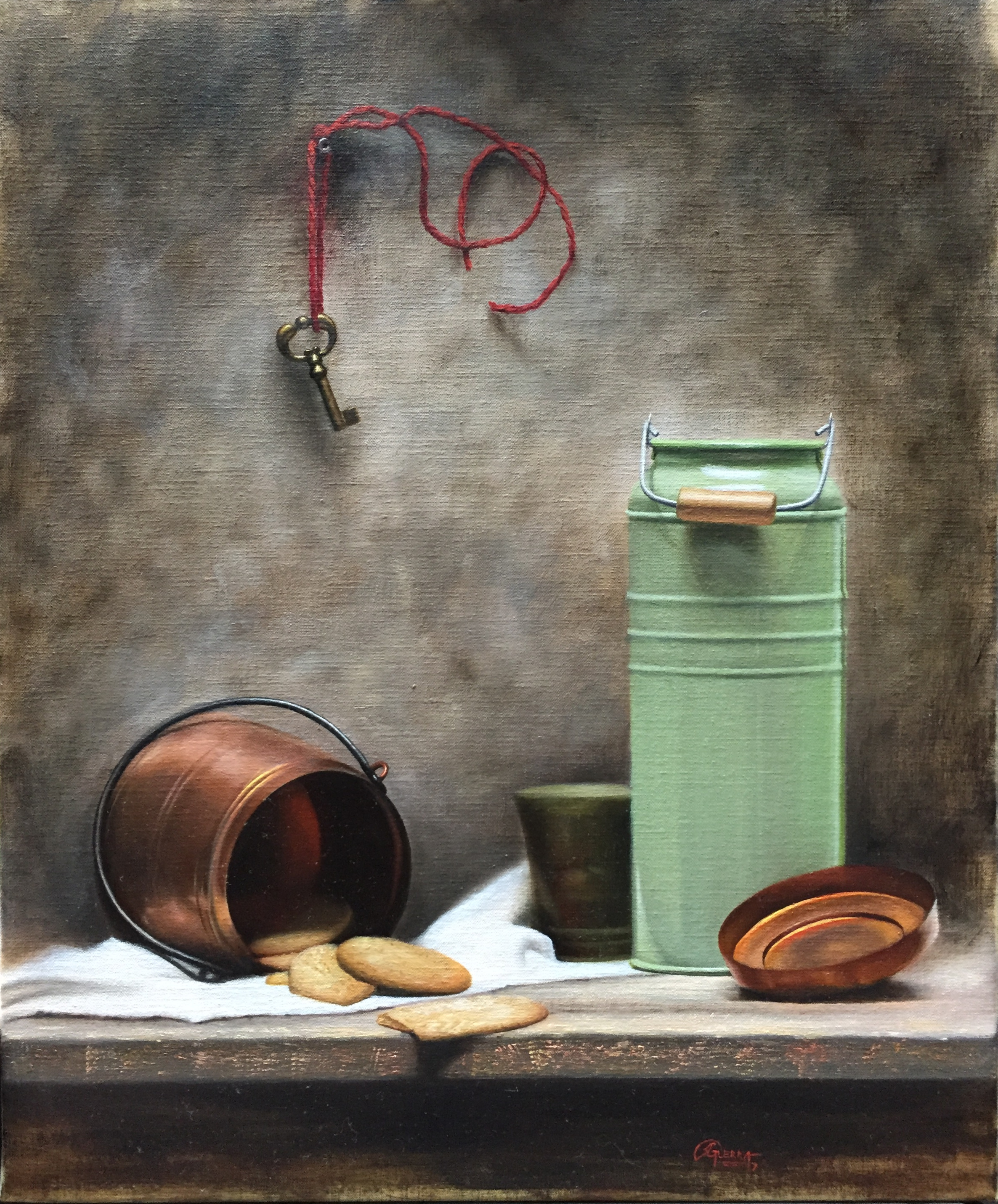 Still Life with Green Milk Can