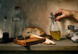 Fasting, Rafael Guerra Painting Pintura