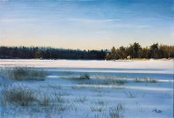 A Finnish Lake in January, Rafael Guerra Painting