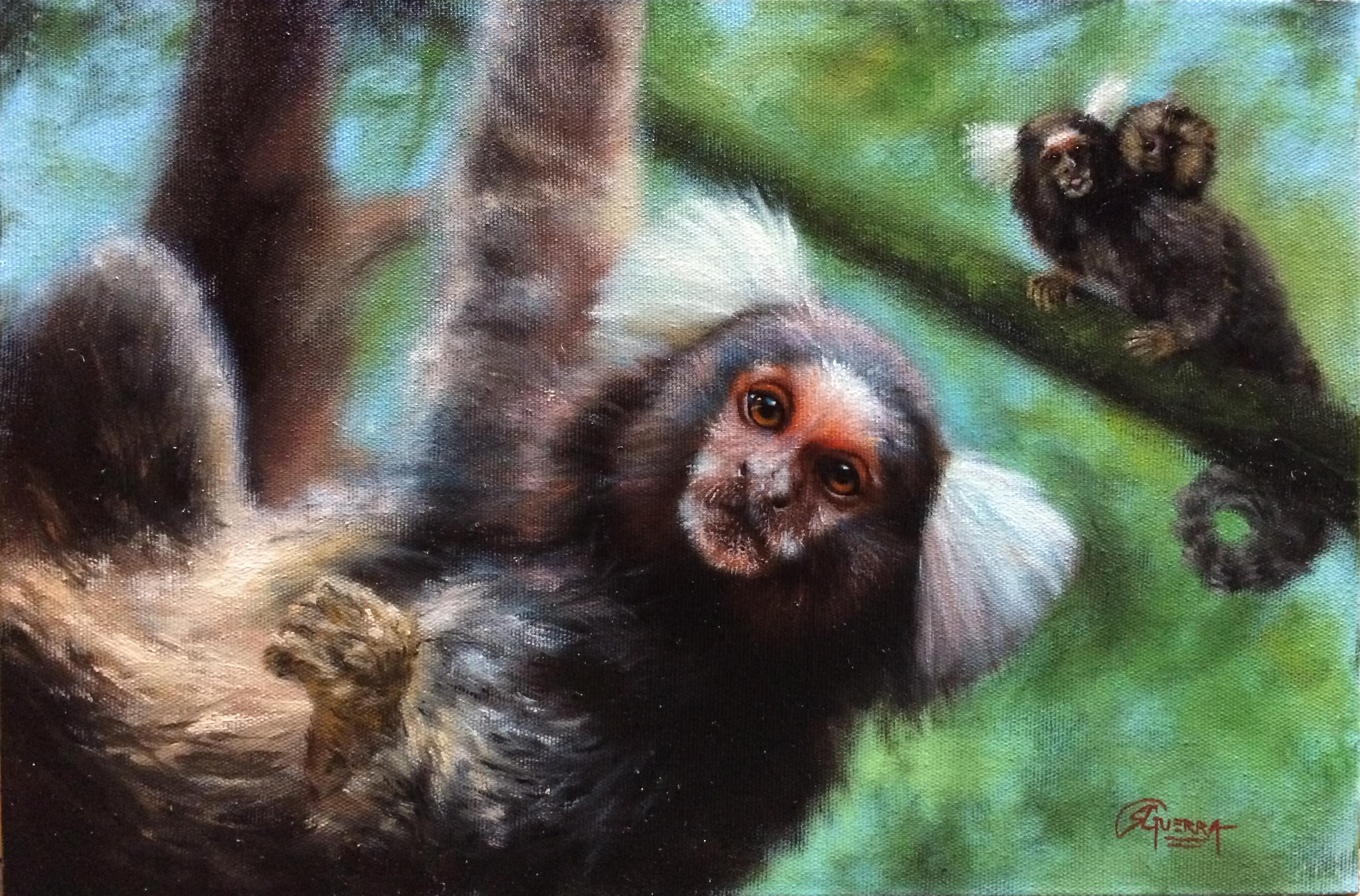 Sagüis, Rafael Guerra Painting Pintura