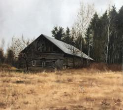 Old Barn in Loviisa, Rafael Guerra Painting Pintura