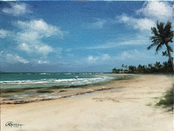 Paisagem de Praia, Rafael Guerra Pintura