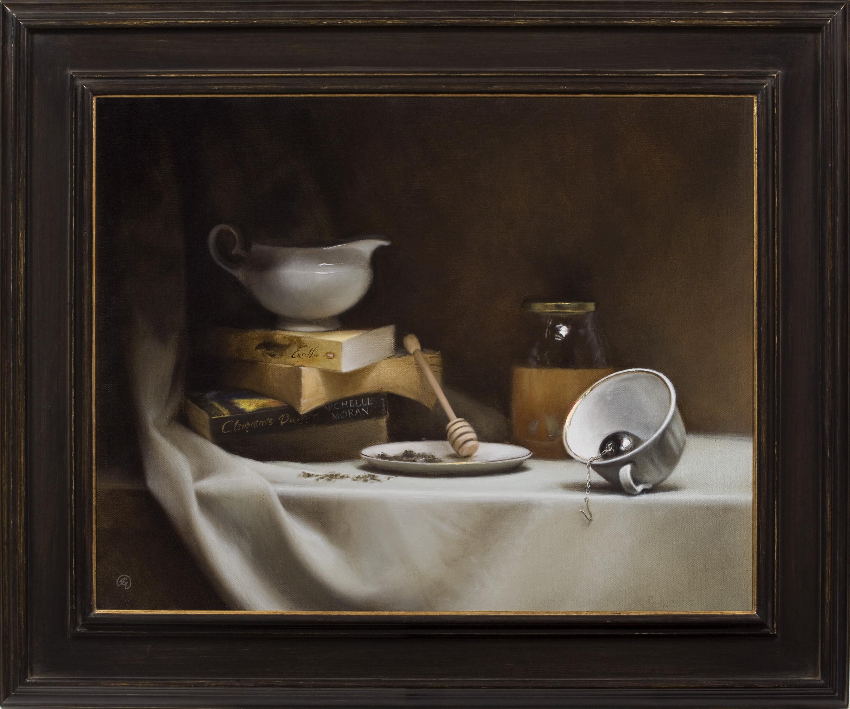 Honey Books & Tea, Rafael Guerra Painting Pintura