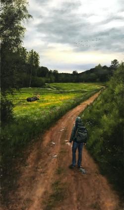 Earth Road in Spring/Encounter, Rafael Guerra Painting