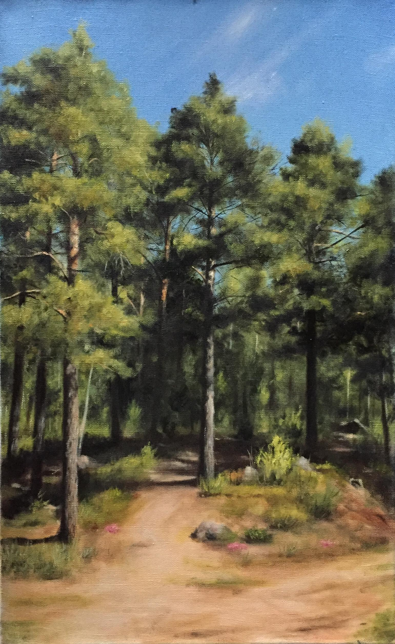 Finnish Pine Trees in Summer, Rafael Guerra Painting