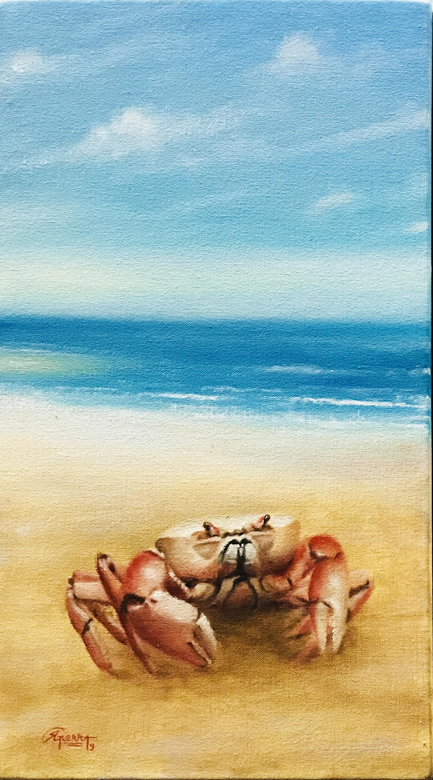 Beach Landscape with Crab, Rafael Guerra Pintura