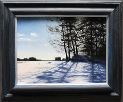 A Clear Day Over a Frozen Lin Winter, Rafael Guerra Painting