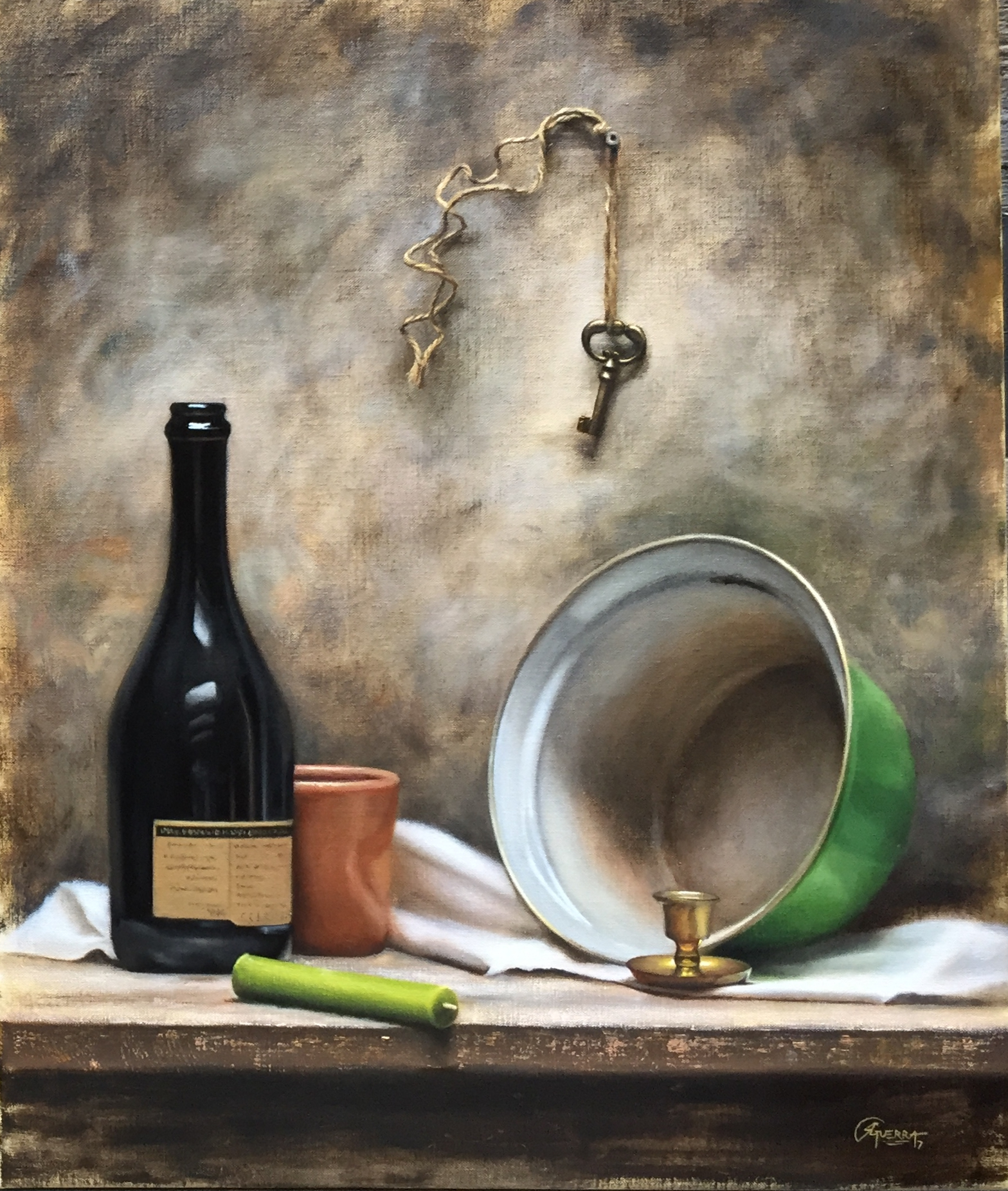 Still Life with Green Pan