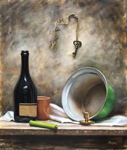 Still Life with Green Pan, Rafael Guerra