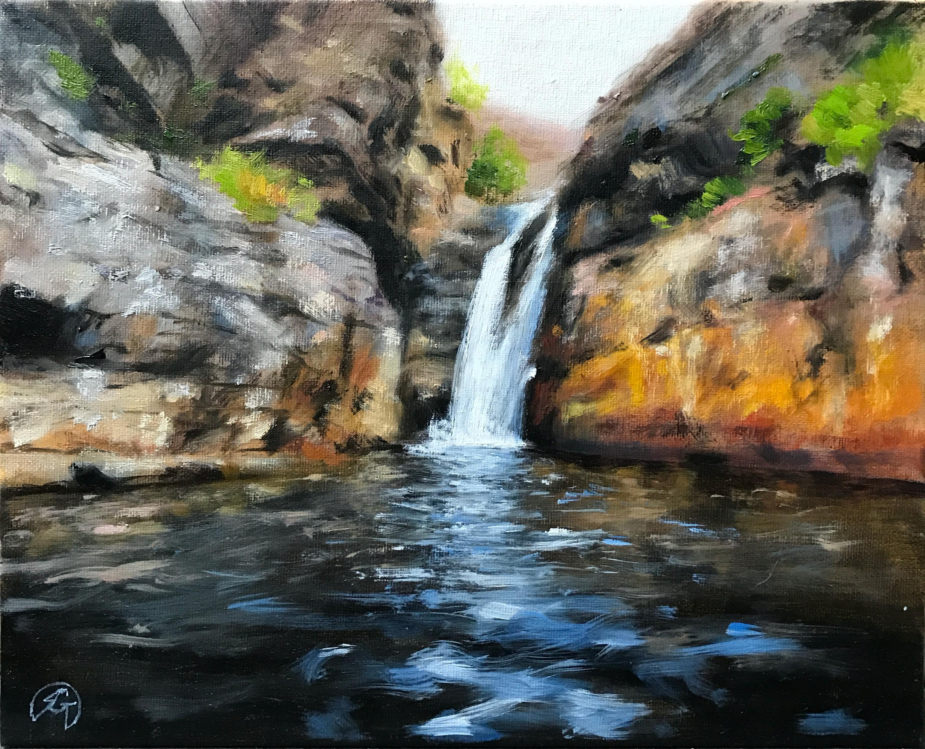 Paisagem Brasileira com Cachoeira, Rafael Guerra Pintura