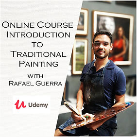 Rafael Guerra painting course aula de pi