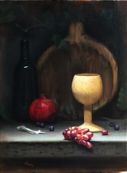 Red Grapes and Pomegranate, Rafael Guerra