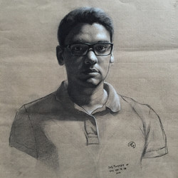 Self Portrait at the Age of 28, Rafael Guerra Drawing Desenho