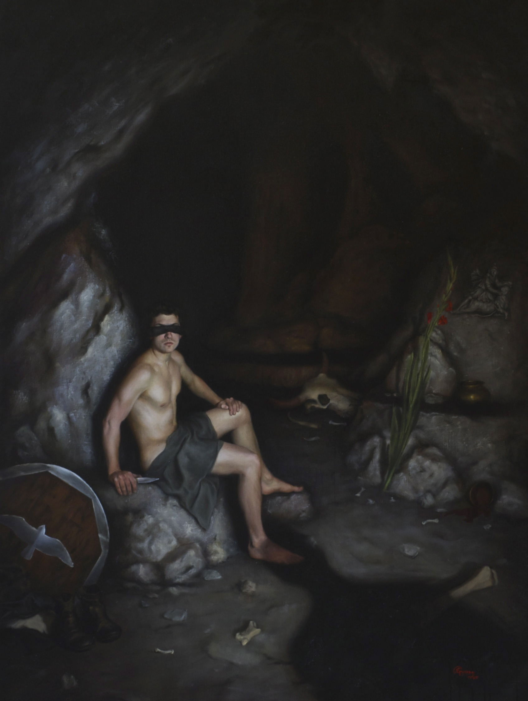Si Vis Pacem Para Bellum 1, Rafael Guerra Painting Pintura