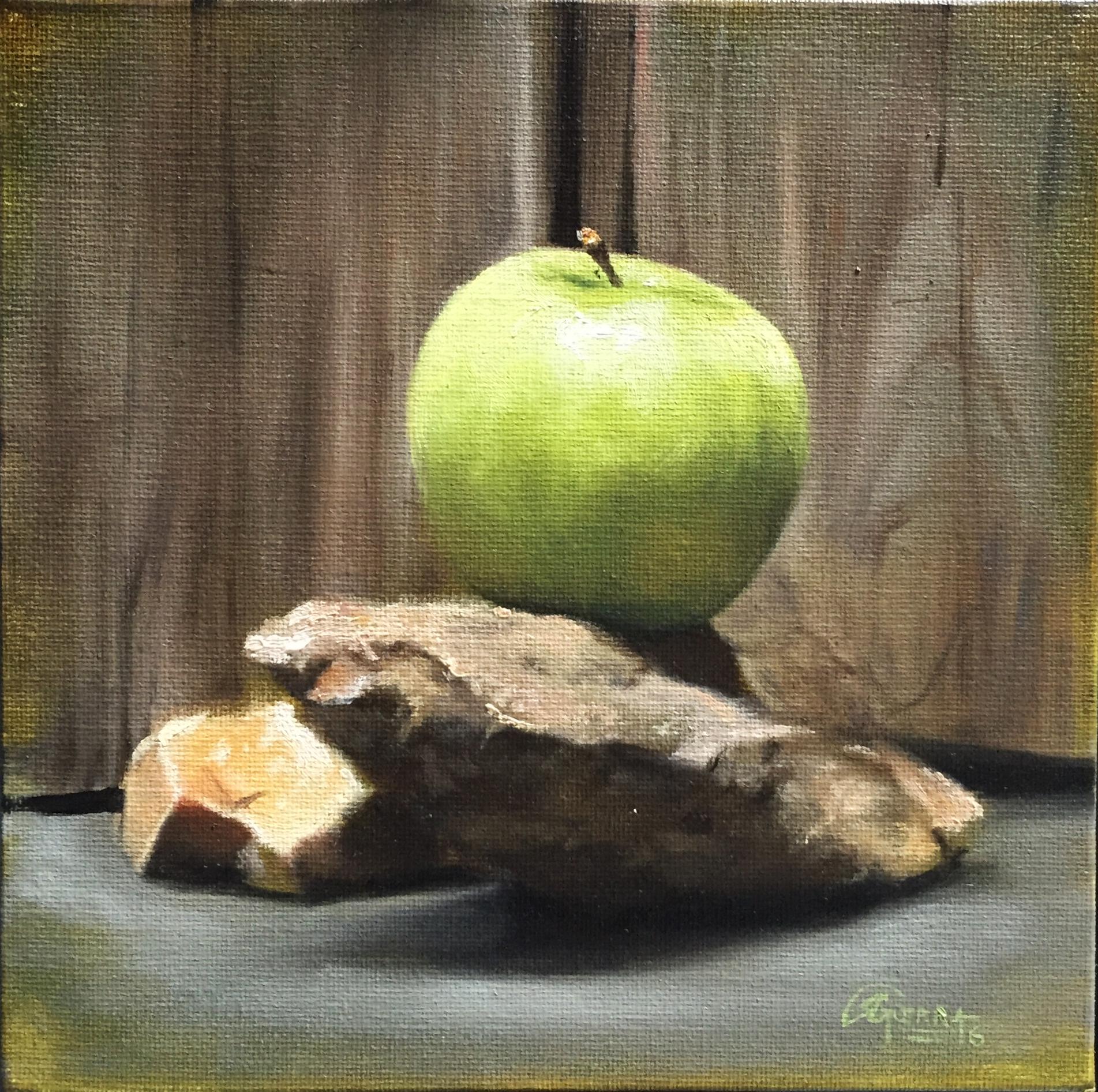 Green Apple on Rocks