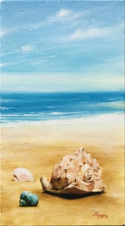 Beach Landscape with Shells, Rafael Guerra