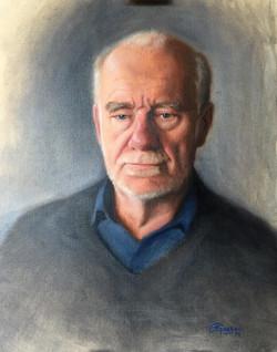 Portrait of Tony Butler, Rafael Guerra Painting Pintura