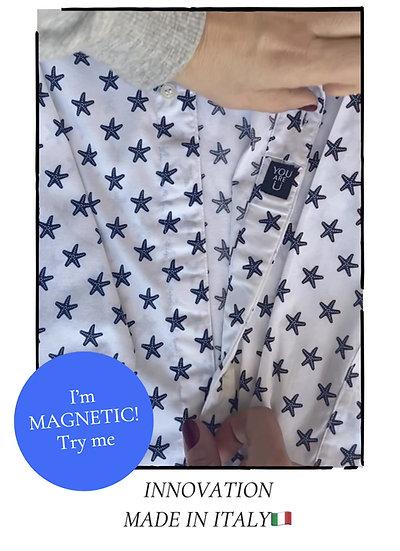 Camicia Magnetica per bambino, cotone, stars, a partire da