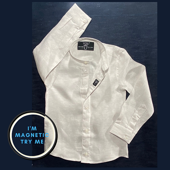 Camicia Magnetica per bambino, lino, a partire da
