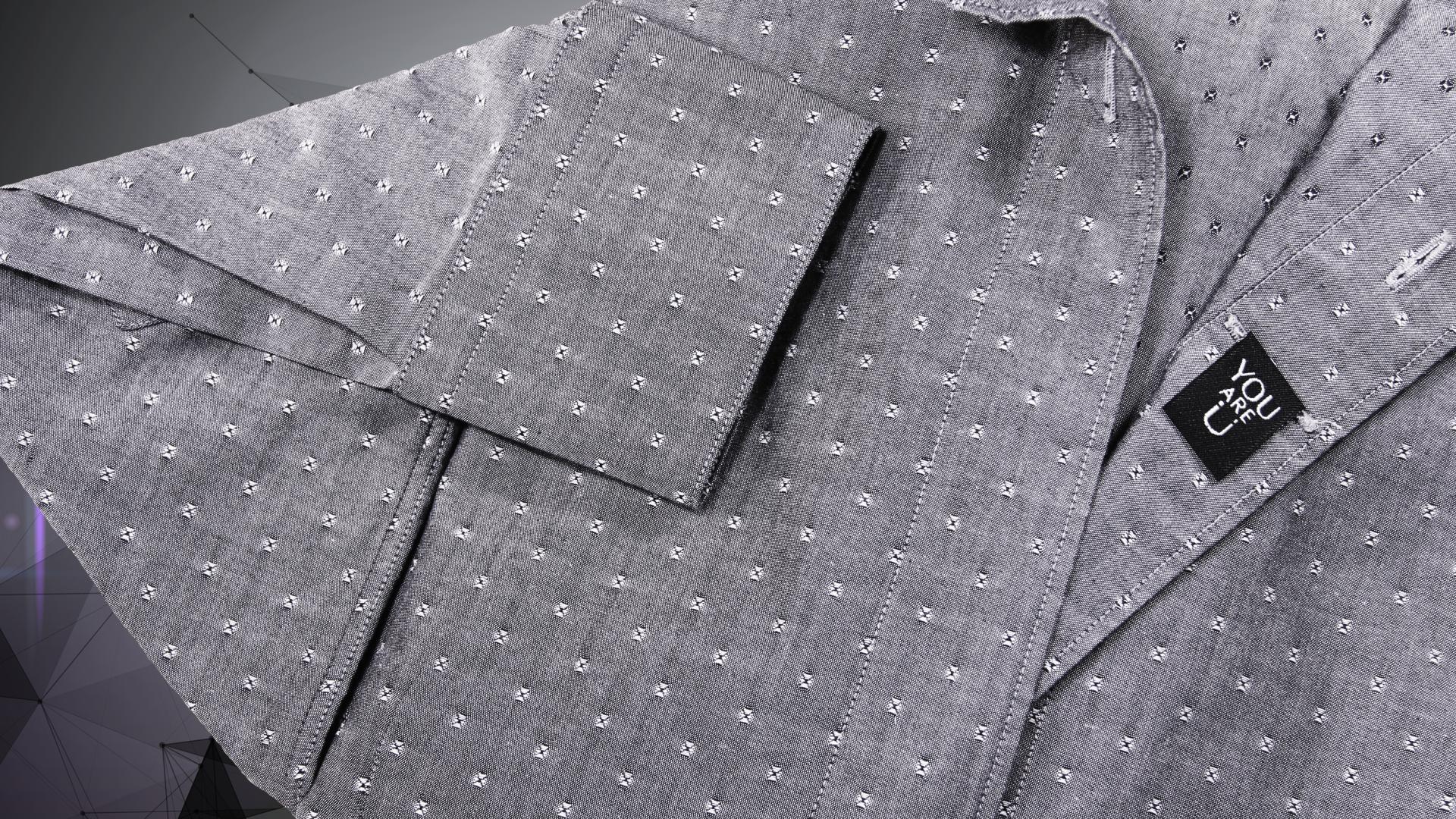 Grey dress shirt