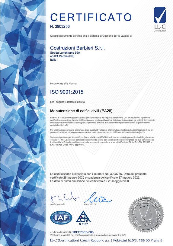Costruzioni Barbieri_LL-C_ISO_9001-01