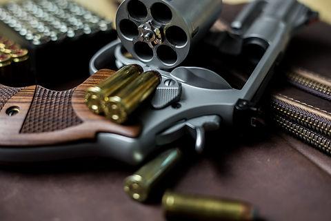 Revolver .44 magnum gun with jacket soft