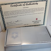 2018 VSAKCS certificate of authentication