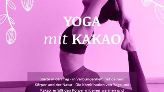 Yoga mit Kakao mit Alexandra Cecchini