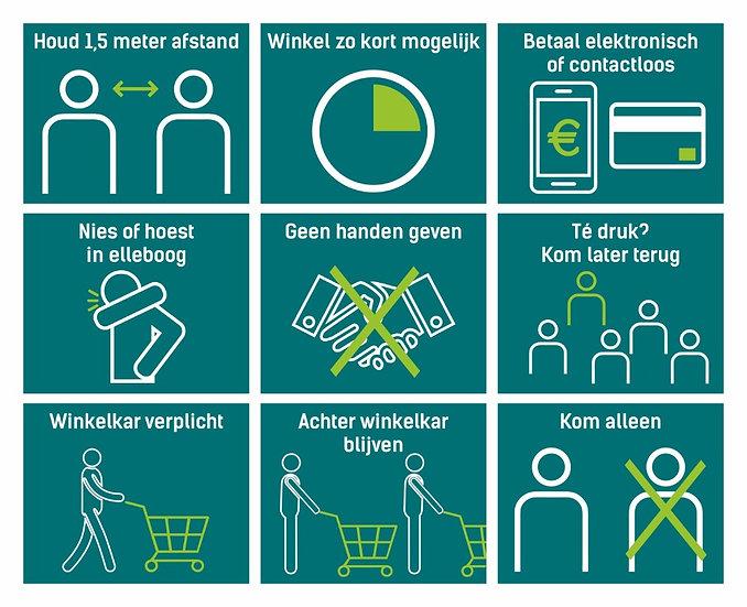 10 stickervellen met preventiepictogrammen